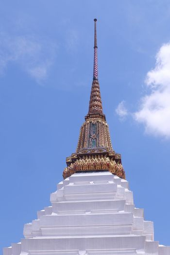 pagoda in wat phra keaw temple Wat Phra Kaew Pagoda Temple Architecture Thai Architecture Art Thai Art Shine Sky Cloud - Sky Building History Ancient Old Bangkok Thailand Tall - High City Place Of Worship Religion Sky Architecture Building Exterior Travel Tall - High Historic