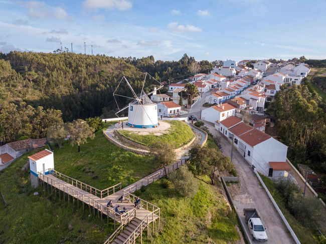 City Grass Nature Portugal Windmill Alternative Energy Architecture Building Building Exterior Built Structure City Day Environment High Angle View Historic House Land Landscape Nature No People Oldtown Outdoors Plant Renewable Energy Residential District Sky Sunset TOWNSCAPE Tree