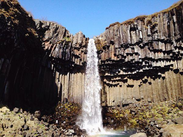 Scandinavia The Great Outdoors - 2016 EyeEm Awards Iceland Nature Svartifoss Waterfall Waterfalls