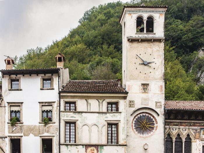 Ancient village of serravalle. imprint of venice. vittorio veneto, italy