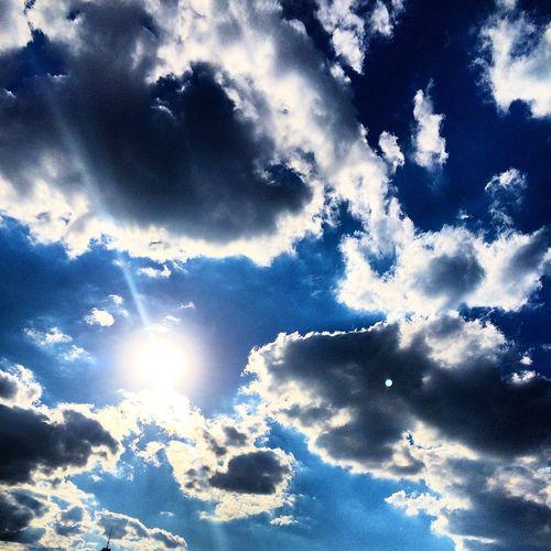 Sky Clouds Atmosphere Atmospheric Mood Blue Sky Clouds Clouds And Sky Cloudscape Light Majestic Shadow Weather