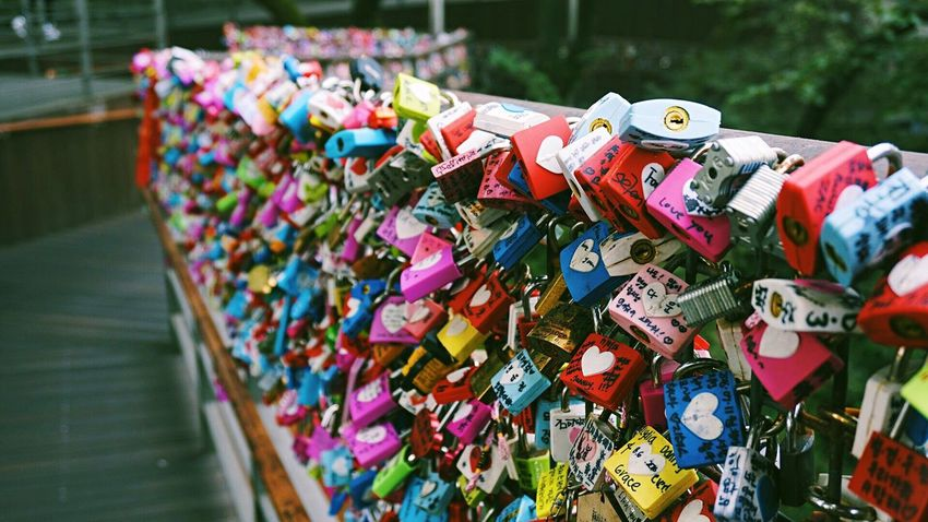 Love mark Multi Colored Love Lock Love Hope - Concept Close-up Focus On Foreground Outdoors No People Places You Must To See Beautiful Little Thing Sonyphotography TakenbyVin