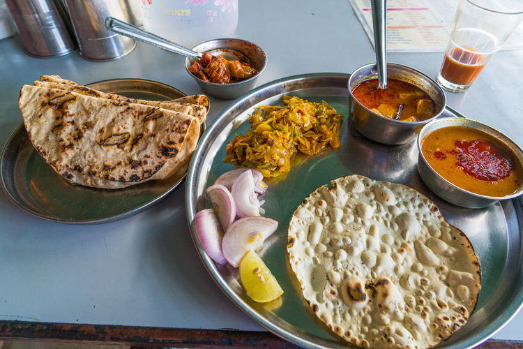 Cuisine Dinner Feast India Travel Bread Chapati Indian Food Plate