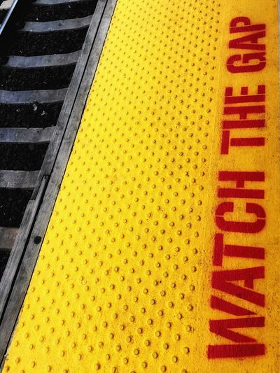 Paint The Town Yellow Train Station High Angle View Outdoors Watch The Gap Design Text