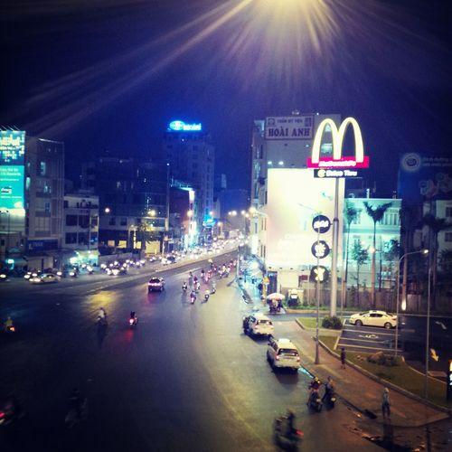 Night in Saigon...lovely... Enjoying Life Night Lights Urban Exploration Fastfood