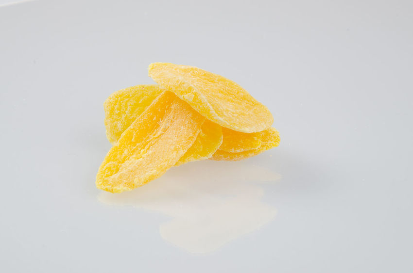 Close-up Day Food Food And Drink Freshness Fried No People Paper Plate Potato Chip SLICE Snack Sour Taste Studio Shot Unhealthy Eating White Background Yellow