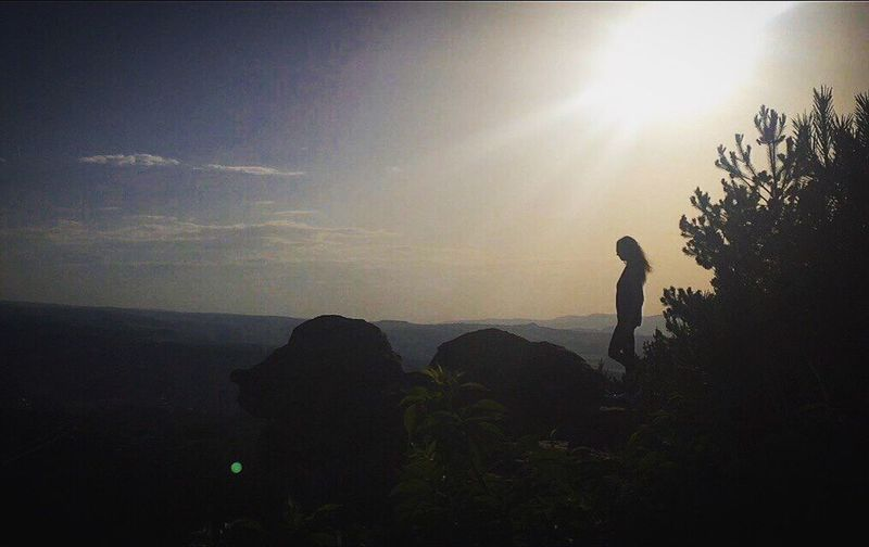 Don't forget me... Silhouette Standing Men Sunlight Sun Mountain Vacations Sky Beauty In Nature Nature Freedom Summer Mountain Range Cielo
