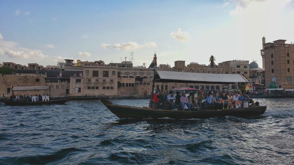 Old Dubai Abra Water Taxi Cheap Transport Commute Bur Dubai Boats Dubai Creek UAE Feel The Journey On The Way Embrace Urban Life Connected By Travel