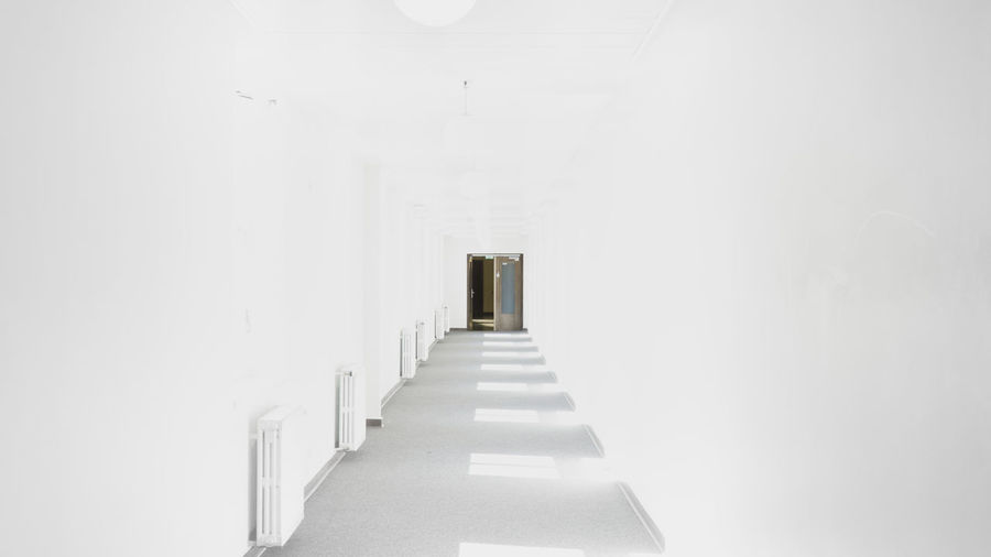 white until the end. Bright Psychedelic Visual Creativity Architecture Built Structure Corridor Day Door Empty In A Row Indoors  No People Simplicity The Way Forward White White Color EyeEmNewHere The Architect - 2018 EyeEm Awards The Traveler - 2018 EyeEm Awards The Still Life Photographer - 2018 EyeEm Awards The Creative - 2018 EyeEm Awards A New Beginning