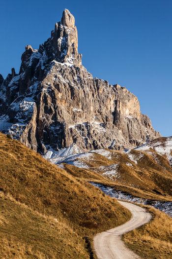 Cimon della pala in the background of blue sky