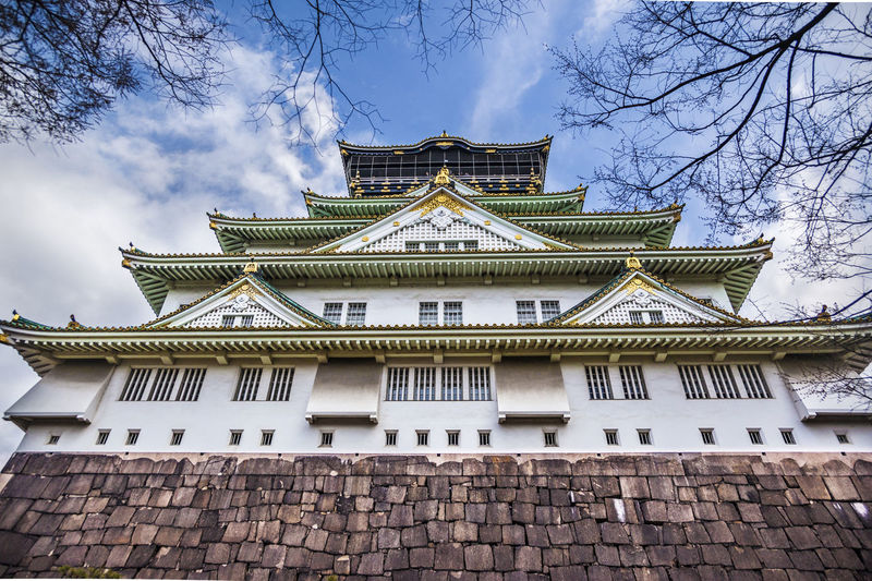 Ultimate Japan Japan OSAKA Relic Tourism Travel Architecture Built Structure Castle Tower Cloud Cloud - Sky Cloudy Day Famous Tourist Attractions History Low Angle View Osaka Castle Outdoors Sky Ultimate Japan