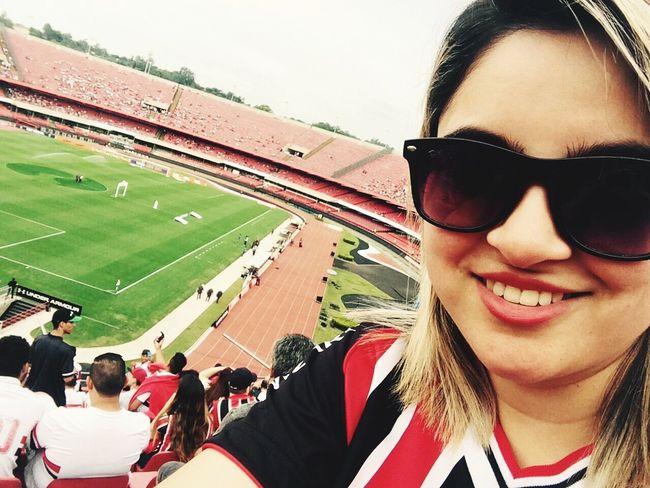 Sport Stadium Women Smiling SPFC Love