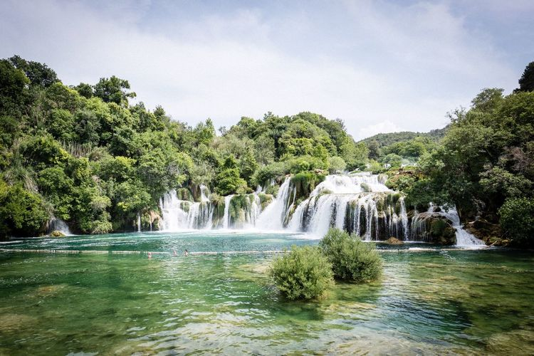 Krka Croatia Krka National Park Plant Tree Water Beauty In Nature Sky Scenics - Nature Growth Nature Waterfront Lake Outdoors Flowing Water