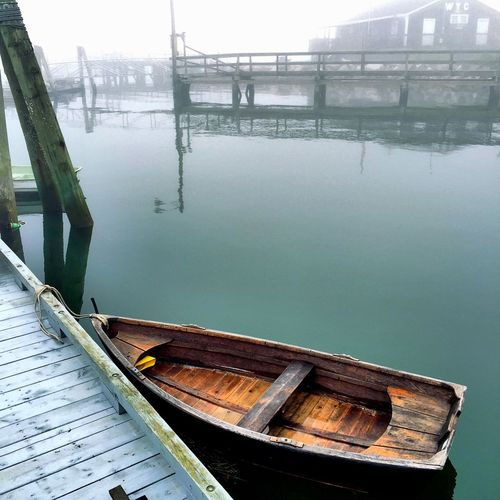 Skiff Waterfront Foggy Taking Photos Carol Sharkey Photography Maine