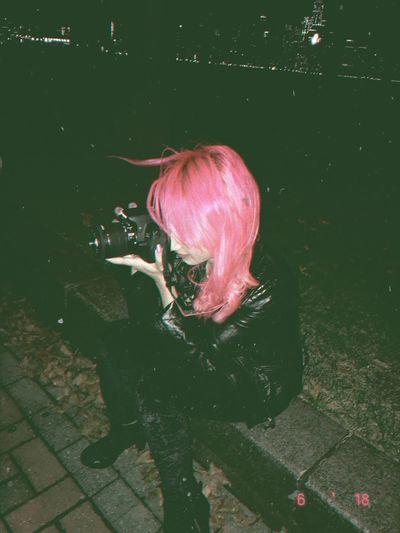 Camera Hairpink Grunge Pink Color