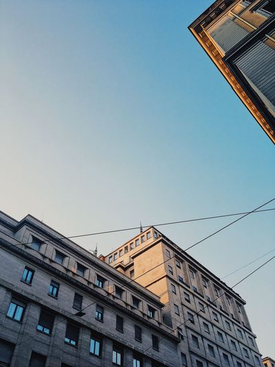 Low-angle view of buildings in Rome. Architecture Building Exterior Building Exterior Architecture Buildings Golden Hour Italian Architecture Italy Low-angle Shot Reflections Rome Sunset Windows