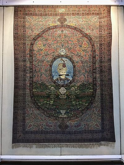 Shah Abbas Safavi National Museum National Landmark Textures And Surfaces Pattern Pattern, Texture, Shape And Form Full Art Illuminated Full Length Handmade Art And Craft Artistic Home Is Where The Art Is Persian Carpet & Rug Carpet Iranian National Gallery  Autumn🍁🍁🍁 ArtWork Wool Wooly Red Blue Portrait Mustache