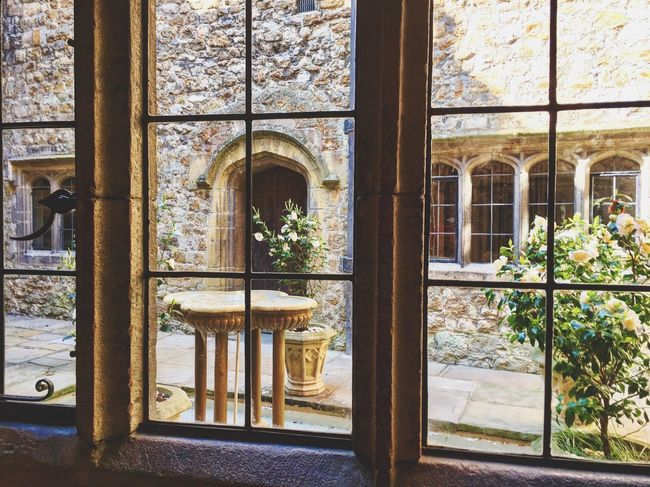 Day Built Structure Growth Architecture Plant No People Indoors  Courtyard  Leeds Castle Castle History Fountain Window View Window Nature Water Travel Travel Destinations Travel Photography