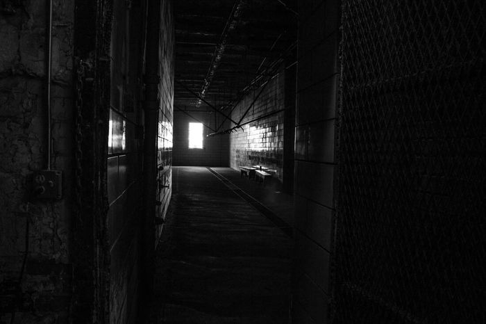 Old Prison Showers. I can only imagine the horrors that took place here. Indoors  The Way Forward Built Structure Architecture No People Day Old Prison Abandoned Places Bad Condition Light And Shadow Shower Showers