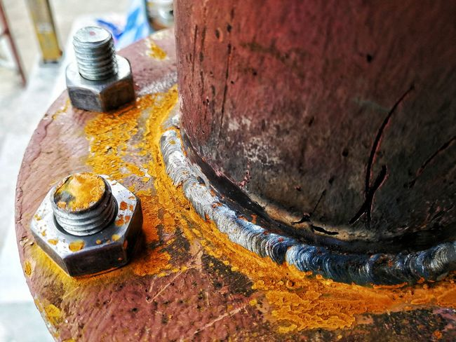 Nut - Fastener Metal High Angle View Close-up Bolt Nut Screw Bad Condition Rusty