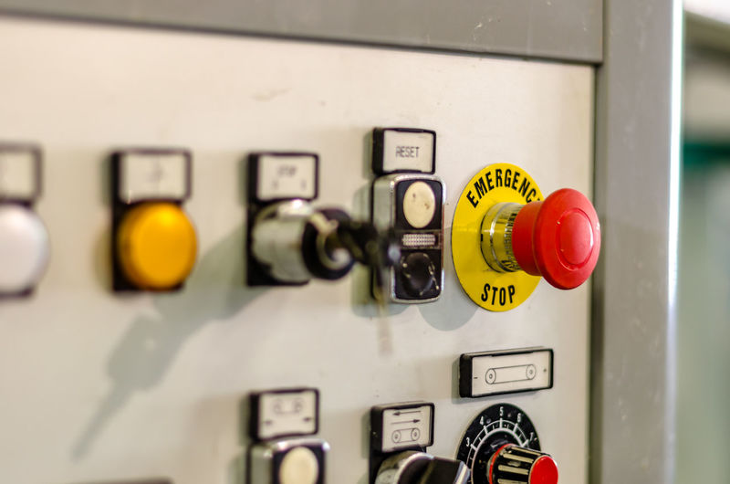 Close-up Connection Control Control Panel Day Electricity  Factory Fuel And Power Generation Gauge Indoors  Industry Machine Part Manufacturing Equipment Meter - Instrument Of Measurement No People Power Supply Switch Technology