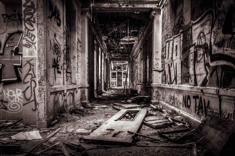 Abandoned Abandoned Buildings Abandoned Places Black And White Blackandwhite Creepy Deterioration HDR Hdr_Collection Lostplaces Urban Exploration Urbex Urbexphotography Wide Angle