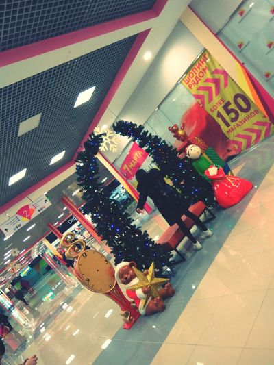 Close-up of christmas decorations in store