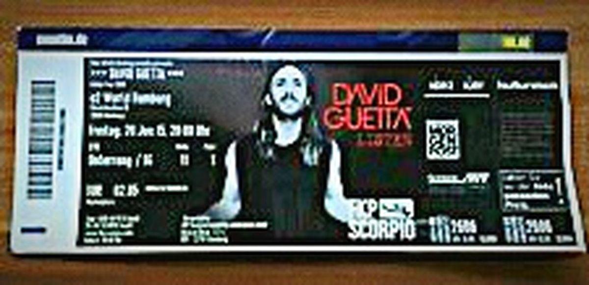 Davidguetta Konzert Ticket Juni Hamburg Music