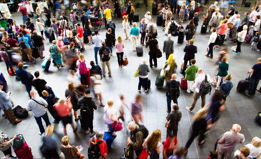 Walking around City Rush Hour Crowded City Life Day Business Outdoors Group Of People Large Group Of People High Angle View Motion Walking People