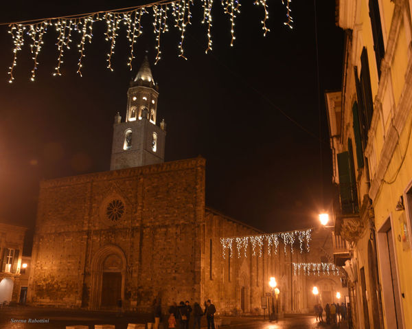 La Cattedrale della mia città, Atri Architecture Night Illuminated Christmas Lights Christmas Christmas Decoration City Cathedral Italy Italianplace Scenics Photography EyeEm Best Shots EyeEm Gallery Eyeemphotography