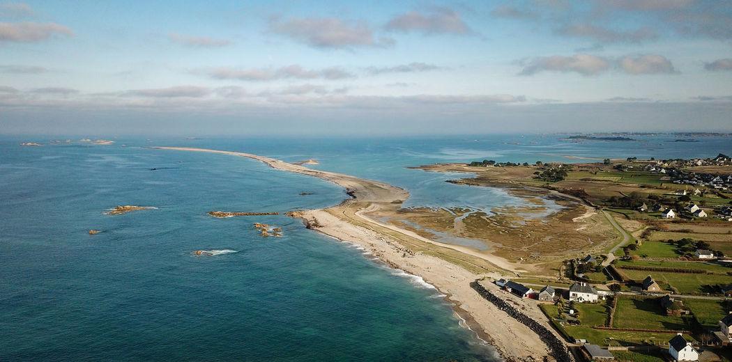 Sillon du talbert [Drone DJI Mavic Pro] Sea Bretagne Bretagnetourisme Vacances Soleil Sand Sky Blue Beach Cotesdarmor Sillon De Talbert Coast