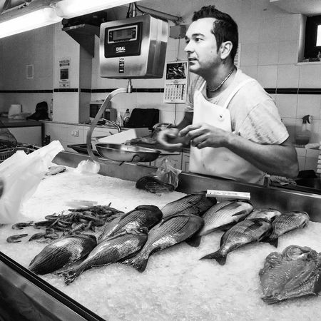 Fish Fish Market Fish Monger Mahón Menorca Blackandwhite Black & White