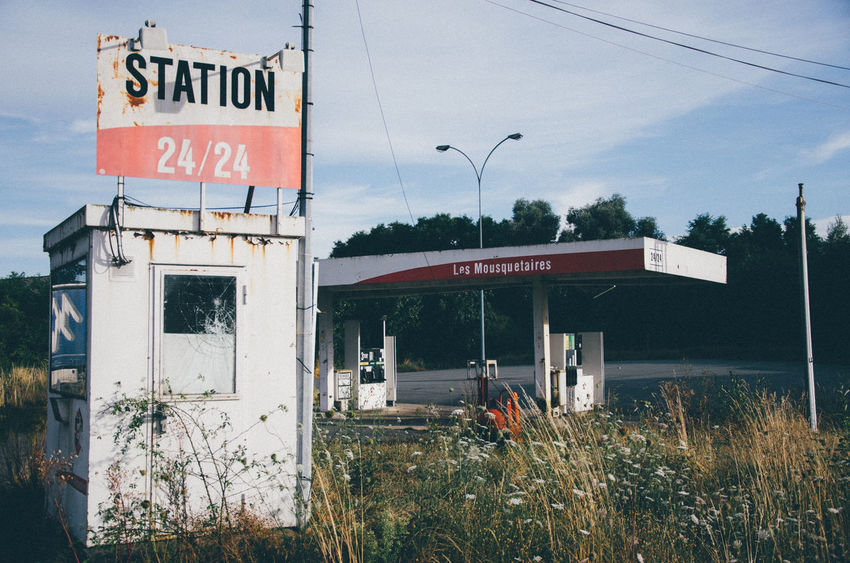 Abandoned Abandoned Places Architecture Bankrupt Building Exterior Built Structure Business Commerce Day Façade Gas Station No People Old Outdoors Red Sky Supermarket Trade Urbex