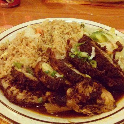 The jerk chicken I had last night. It's was on point ???? Jerkchicken Carribeanfood Islandfood Foodporn