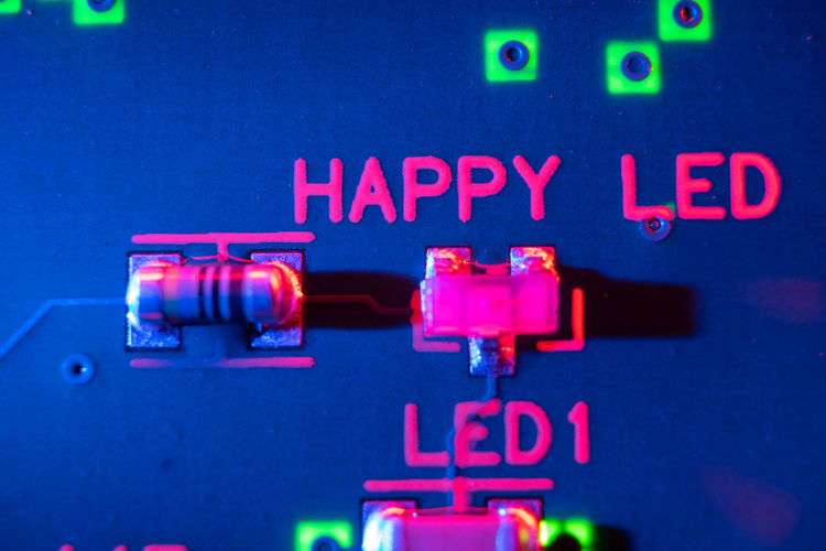 Close-up of illuminated neon sign