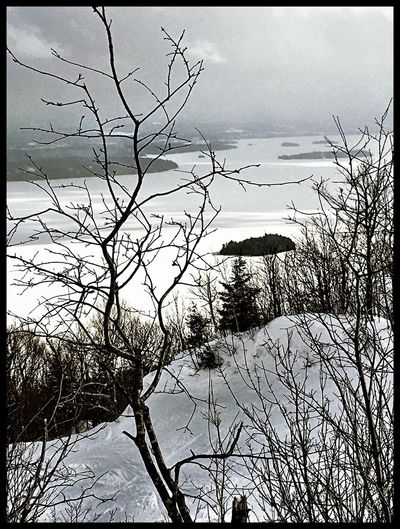 Skihill Skiing Blackandwhite Owelshead Memphremagog Lake View Winter