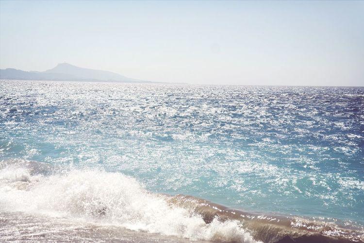Rhodos Greece Ocean Waves