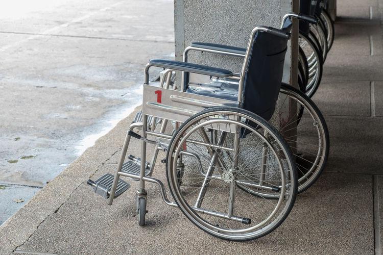 Wheelchair on corridor