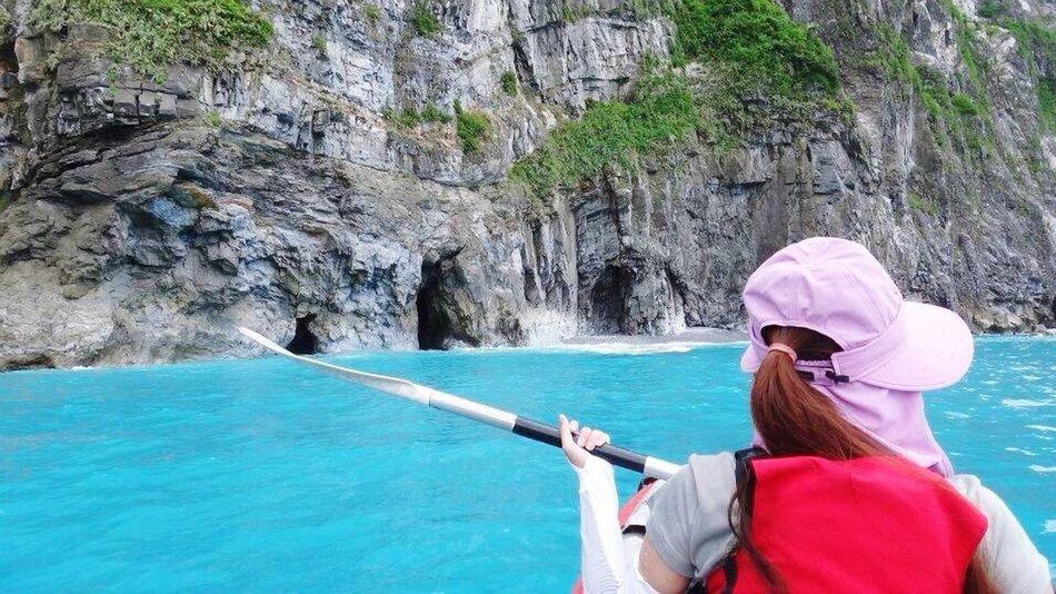 Hualien, Taiwan Canoe The Pacific Ocean Cingshuei Cliff 清水斷崖