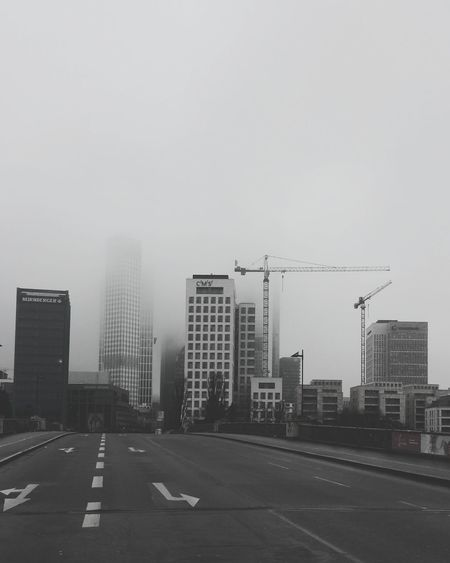 Foggy sunday morning.... Foggy Urban Monochrome Skyline Frankfurt Frankfurt Am Main Black And White Black & White