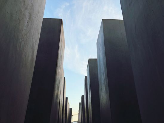Mahnmal Holokaust Mahnmal Für Die Ermordeten Juden Europas Berlin Architecture Low Angle View Built Structure Sky Building Exterior Day No People