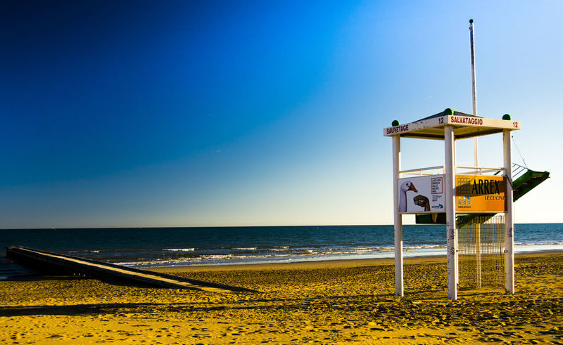Beach Beauty In Nature Clear Sky Day Horizon Over Water Lifeguard  Lifeguard Hut Nature No People Outdoors Protection Safety Sand Scenics Sea Sky Tranquil Scene Tranquility Water Live For The Story