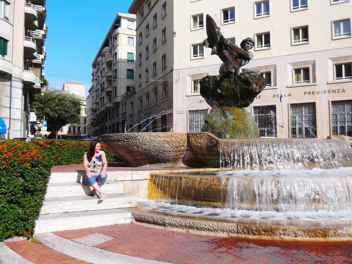 The Best From Holiday POV Savona  Italy Italian Style Man Fighting Shark Statue That's Me