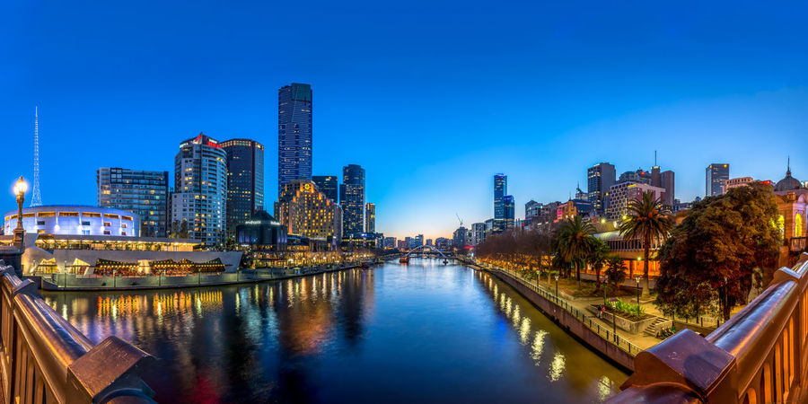 Melbourne River Bridge Reflection Sunset City Cityscapes Australia Nightlights Skyscraper Blue Sky @glennsgregory