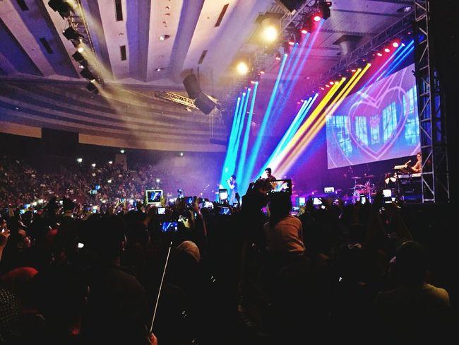 Music Concert Love Live Music Noah Band at Jakarta Indonesia. Love the colorful of Lighting Decoration . EyeEmbestshots Enjoying Life Eye Em Best Edits My Best Photo 2015
