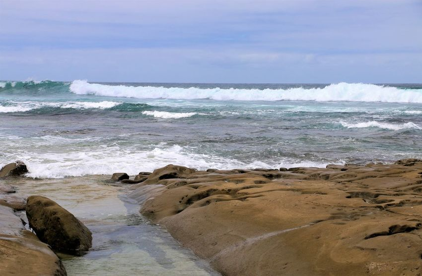 Beach Photography Been There. Daytime La Jolla Beach La Jolla, California Nature San Diego Sunny Beach Beauty In Nature Been There, Done That Day Horizon Over Water La Jolla Nature No People Ocean Outdoors Scenics Sea Water Wave Waves Waves And Rocks Waves Crashing On Rocks
