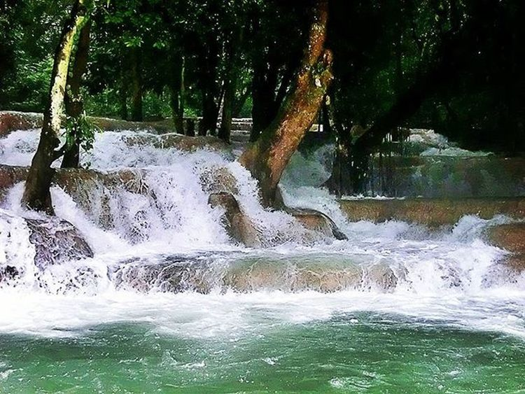 Freezing water, but amazing view Travel Trip Instatravel Adventure Vacation Nature Holiday Summer Explore Love Travelling ASIA Landscape Photooftheday World Life View Fun Picoftheday Happy Amazing Travelphotography Laos Luangprabang Waterfall followme likeme beautiful perfect awesome
