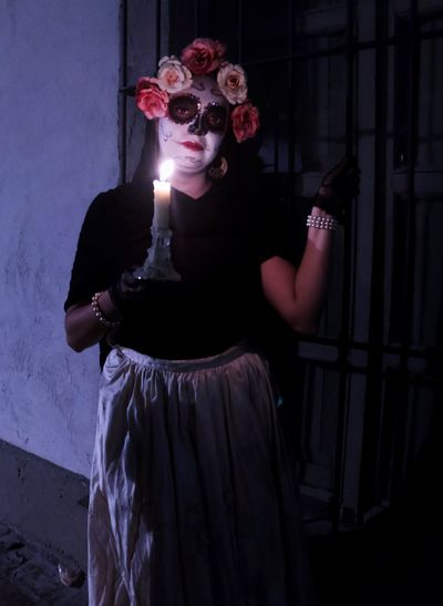 Catrina in the street DIA DE MUERTOS Catrina Catrina Day Of The Dead One Person Women Lifestyles Spooky Costume Standing Mask Young Adult Wall - Building Feature Looking At Camera Mask - Disguise Adult Portrait Make-up Disguise Young Women Leisure Activity Fashion