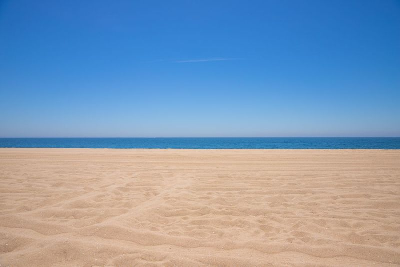 just skyline.. Sandy Beach Beach Losangeles Landscape California WestCoast Beauty In Nature No People Day Clear Sky Nature Horizon Over Water Tranquil Scene Horizon Copy Space Sand Outdoors Water