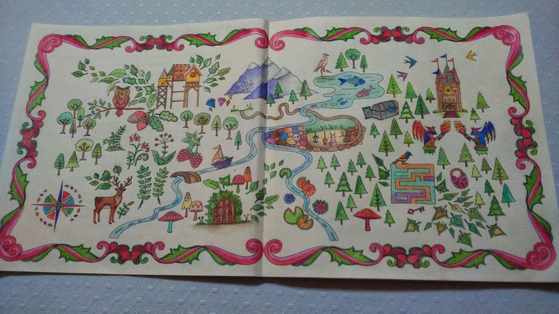 My Coloring Book My First Book Enchanted  Forest first page Enjoing Time
